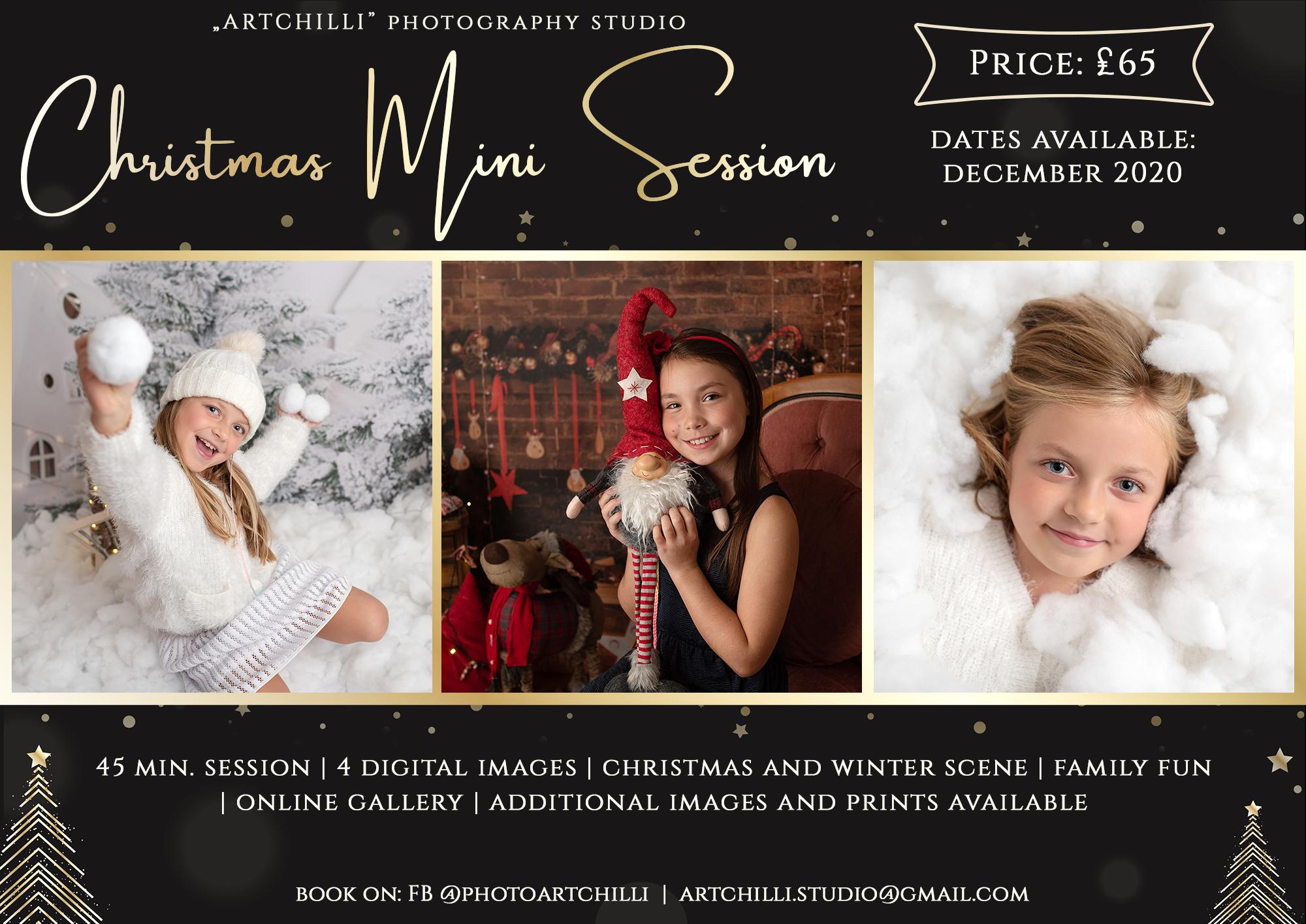 christmas mini sessions 2020 uk